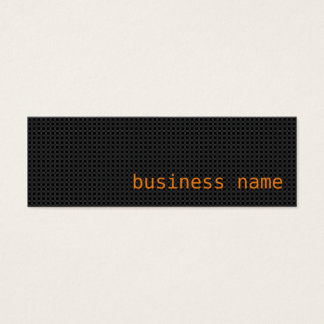 Minimalist Black and Orange Business Card