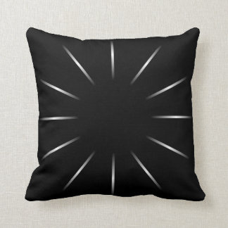 Minimalist Black and Silver Star Throw Pillow