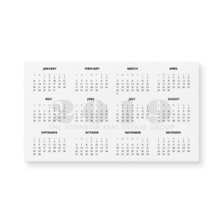 Minimalist Black and White 2019 Calendar
