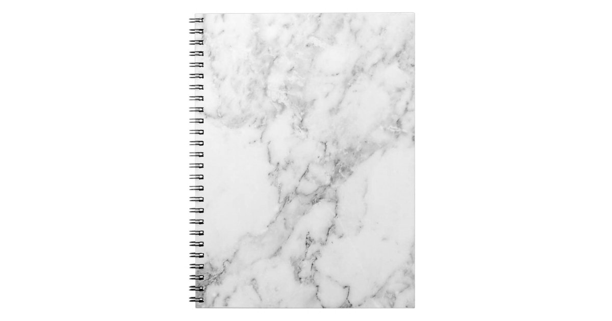Minimalist Black And White Marble Notebook Zazzle Com