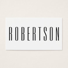 Minimalist Black And White Modern Business Card at Zazzle
