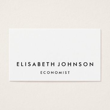 Professional Business Minimalist black and white modern business card