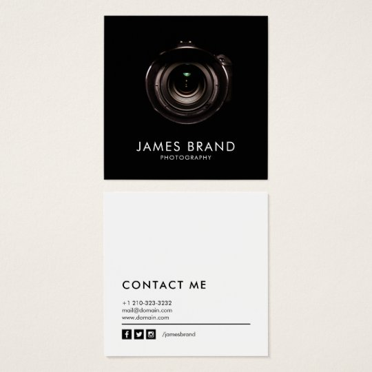 Minimalist black and white photography square business card minimalist black and white photography square business card reheart Images