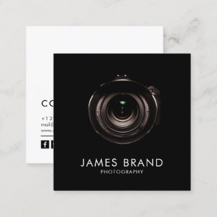 Photography business cards zazzle minimalist black and white photography square business card colourmoves