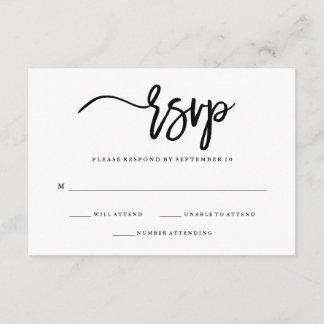 Minimalist Black and White Typography RSVP