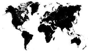 World map posters zazzle minimalist black and white world map poster gumiabroncs Gallery