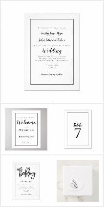 MINIMALIST BLACK TYPOGRAPHY  WEDDING STATIONERY