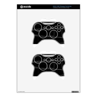 Minimalist Black & White Series Xbox 360 Controller Skin