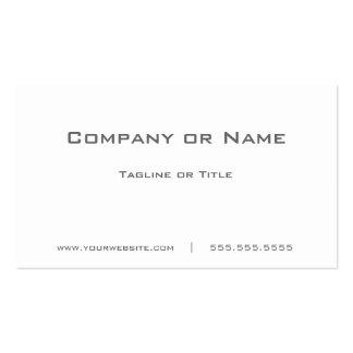 Minimalist blanco llano simple tarjetas de visita