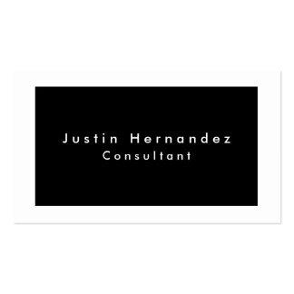 Minimalist blanco negro elegante llano simple tarjetas de visita