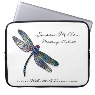 Minimalist Blue Dragonfly Laptop Sleeve