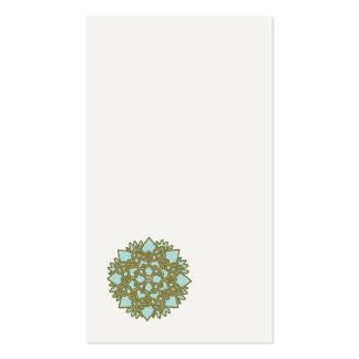 Minimalist Blue Lotus Flower Business Card