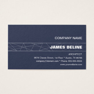 Minimalist Blue White Architect Business Card