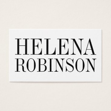 Professional Business Minimalist bold black and white business card