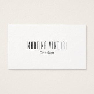 Minimalist Bold Professional Plain Black White Business Card