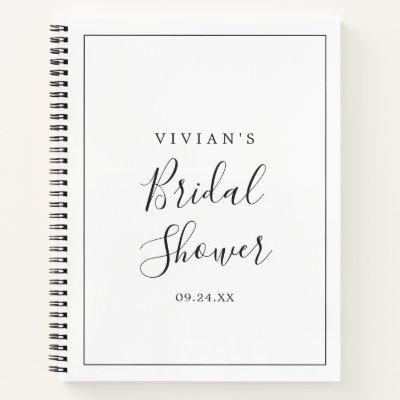 Minimalist Bridal Shower Gift List Notebook