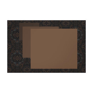 Minimalist Canvas Art Black Brown Coffee Java
