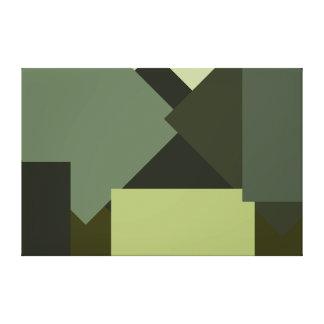Minimalist Canvas Art Olive Plant Colors 2