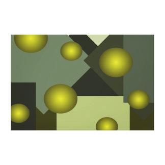 Minimalist Canvas Art Olive Plant Colors 3