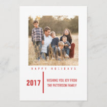 Minimalist Chic Holiday Photo Card | Red