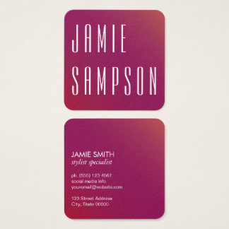 Minimalist Chic Magenta Square Business Card