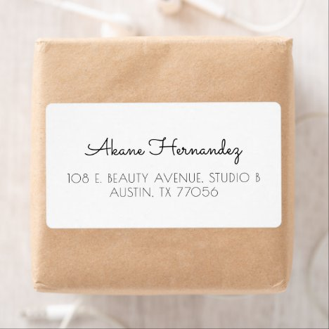 Minimalist Chic Modern Shipping Address Label