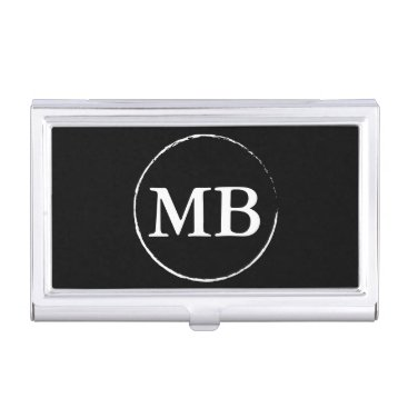 Professional Business Minimalist Circle Initial Business Card Holder