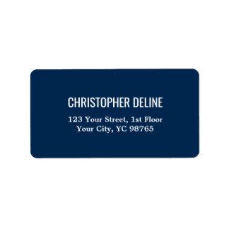 Minimalist Classic Elegant Navy Blue White Label