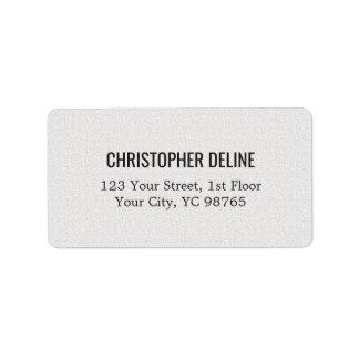 Minimalist Classic Elegant Texture White Label