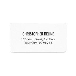 Minimalist Classic Elegant White Label