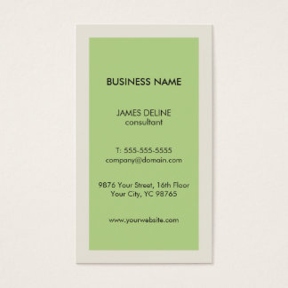 Minimalist Clean Green Grey Consultant Business Card