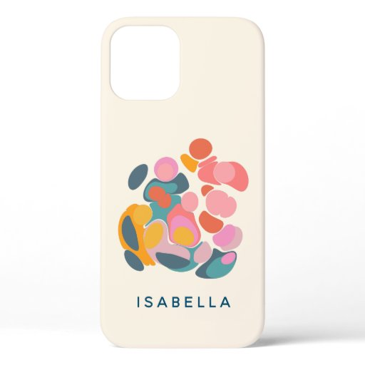 Minimalist Colorful Abstract Shapes Personalized  iPhone 12 Pro Case