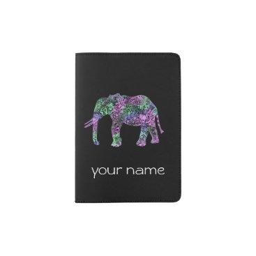 elipsa minimalist colorful tribal floral neon elephant passport holder