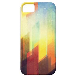 Minimalist colorful urban sunset design iPhone SE/5/5s case