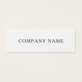 Minimalist company name modern business card