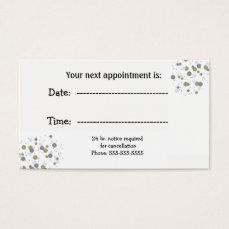 Minimalist Confetti Dots Specialist Appointment Business Card