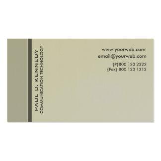 Minimalist contemporáneo modernista del color tarjetas de visita
