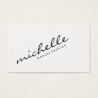 Minimalist Cursive Text Business Card
