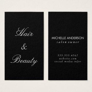 Minimalist Cursive Text   hair and beauty Business Card