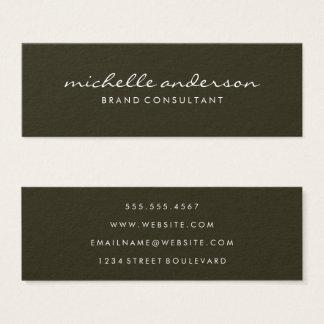 Minimalist Cursive Text Mini Business Card