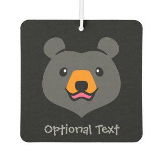 Minimalist Cute Black Bear Cartoon Air Freshener