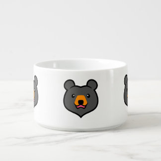 Minimalist Cute Black Bear Cartoon Bowl