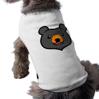 Minimalist Cute Black Bear Cartoon Dog T-shirt