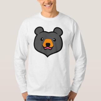 Minimalist Cute Black Bear Cartoon Shirt