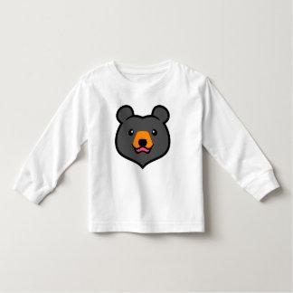 Minimalist Cute Black Bear Cartoon T Shirts