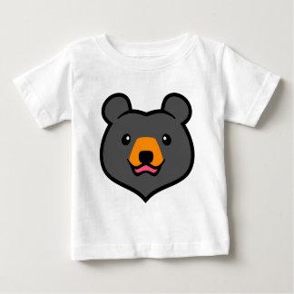 Minimalist Cute Black Bear Cartoon Tee Shirts