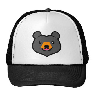 Minimalist Cute Black Bear Cartoon Trucker Hat
