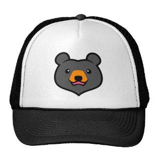 Minimalist Cute Black Bear Cartoon Trucker Hat