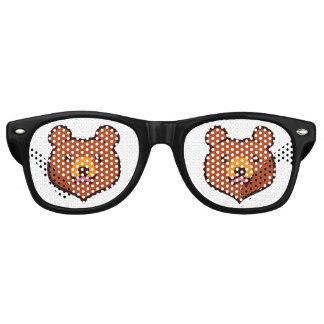 Minimalist Cute Cartoon Grizzly / Brown Bear Face Retro Sunglasses