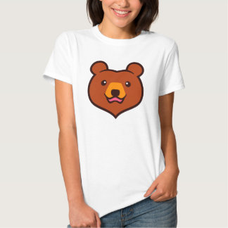 Minimalist Cute Grizzly / Brown Bear Cartoon T-shirt